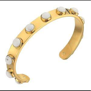Kate Spade Tag Along Cuff Bangle Bracelet White